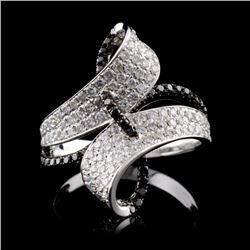 14K White Gold 1.07ctw Fancy Color Diamond Ring