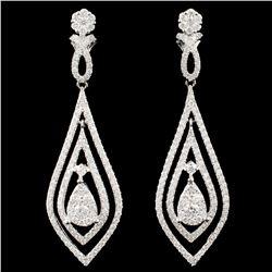 14K White Gold 1.63ctw Diamond Earrings