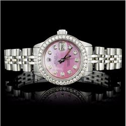 Rolex SS DateJust 1.00ct Ladies Diamond Wristwatch