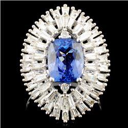 18K Gold 2.63ct Tanzanite & 1.07ctw Diamond Ring