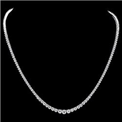 ^18k White Gold 9.00ct Diamond Necklace