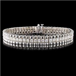 14K Gold 4.24ctw Diamond Bracelet