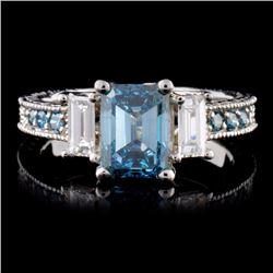 18K White Gold 2.01ctw Fancy Color Diamond Ring