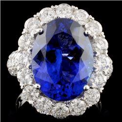 18K White Gold 8.16ct Tanzanite & 2.63ct Diamond R