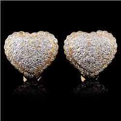 14K Yellow Gold 2.30ctw Diamond Earrings