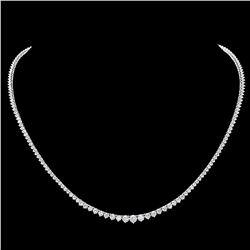 ^18k White Gold 6.70ct Diamond Necklace