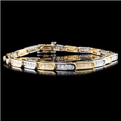 14K Gold 1.32ctw Diamond Bracelet