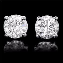 14k White Gold 1.50ct Diamond Earrings