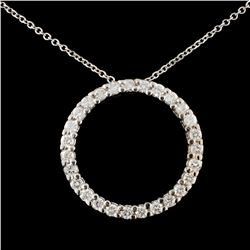 14K Gold 0.73ctw Diamond Pendant