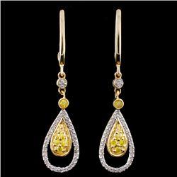 14K Gold 0.33ctw Fancy Diamond Earrings
