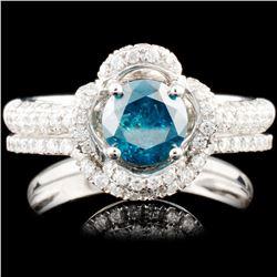 14K Gold 1.38ctw Fancy Color Diamond Ring