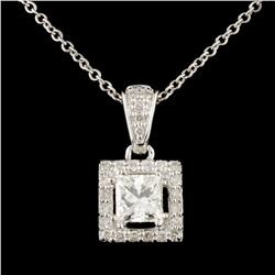 14K Gold 0.66ctw Diamond Pendant