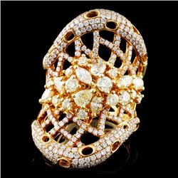 18K Gold 2.99ctw Fancy Diamond Ring