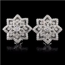 18K White Gold 1.24ct Diamond Earrings