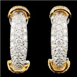 18K Gold 1.41ctw Diamond Earrings