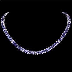 `14k Gold 54ct Tanzanite 2ct Diamond Necklace