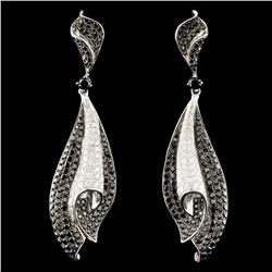 18K Gold 2.35ctw Fancy Color Diamond Earrings