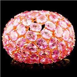 18K Gold 14.18ct Sapphire & 0.71ctw Diamond Ring