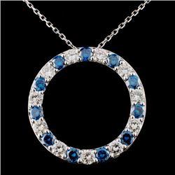 18K White Gold 2.42ctw Fancy Color Diamond Pendant