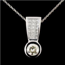 Platinum 1.64ctw Diamond Pendant