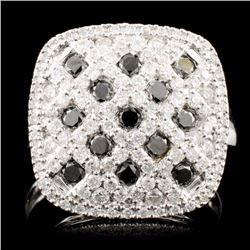 14K Gold 1.13ctw Fancy Color Diamond Ring