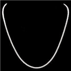 ^18k White Gold 6.00ct Diamond Necklace