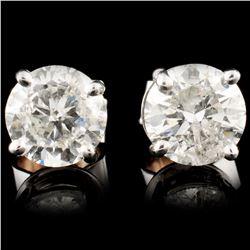 14K Gold 1.87ctw Diamond Earrings
