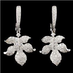 14K Gold 1.80ctw Diamond Earrings