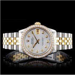 Rolex TT DateJust Diamond Mid-Size Wristwatch