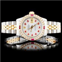 Rolex DateJust 1.00ctw Diamond Ladies Watch