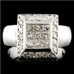 18K Gold 0.70ctw Diamond Ring