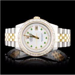 Rolex DateJust 3.00ct Diamond Wristwatch