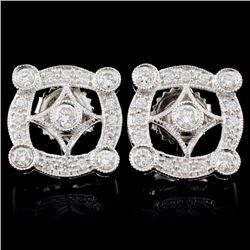 18K Gold 0.71ctw Diamond Earrings