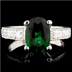 14K Gold 1.85ct Tourmaline & 0.40ct Diamond Ring