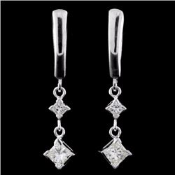 14K Gold 1.60ctw Diamond Earrings