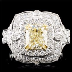 18K Gold 2.82ctw Fancy Diamond Ring