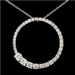 14K Gold 1.62ctw Diamond Pendant