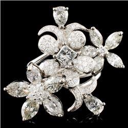18K Gold 4.46ctw Mix Diamond Ring