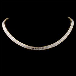 14K Yellow Gold 11.00ct Diamond Necklace