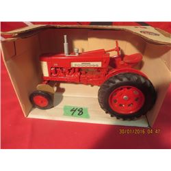 1/16 Scale Farmall 350 #418 (Red Wheels, Grey stack)