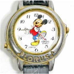 VINTAGE LORUS MICKEY MOUSE WRIST WATCH W/ LEATHER BAND