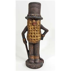 CAST IRON PLANTERS MR. PEANUT BANK