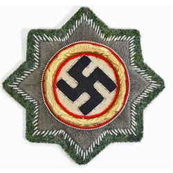 GERMAN NAZI ARMY CLOTH GERMAN CROSS IN GOLD