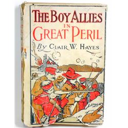 """1916 """"THE BOY ALLIES IN GREAT PERIL"""" HARDCOVER BOOK W/ DUST JACKET"""