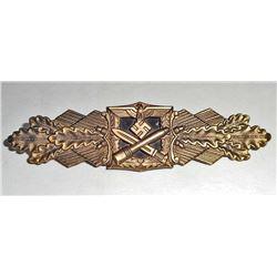 GERMAN NAZI ARMY GOLD CLOSE COMBAT CLASP