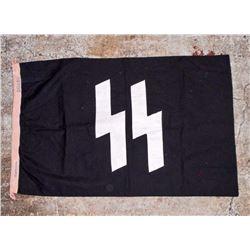 GERMAN NAZI WAFFEN SS GERMANIA RUNIC BATTLE FLAG