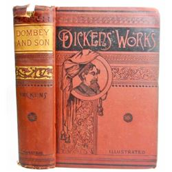 """ANTIQUE """"DICKENS WORKS"""" HARDCOVER BOOK"""