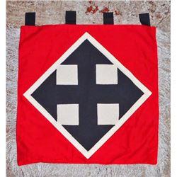 GERMAN NAZI WAFFEN SS HUNGARIAN FOREIGN VOLUNTEER TRUMPET BANNER FLAG