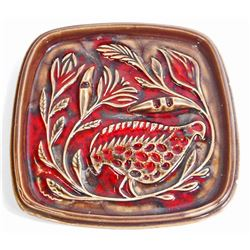 VINTAGE RED WING USA POTTERY ASHTRAY
