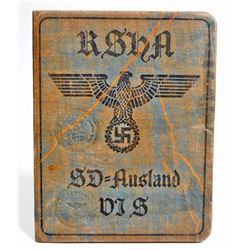 GERMAN NAZI WAFFEN SS SD AUSLAND SOLDIER IDENTIFICATION BOOKLET